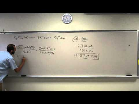 Cacluating Molarity of Ions 001
