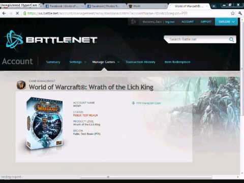 World of Warcraft Public test realm Download + Char  Copy