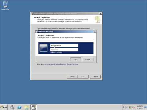 Server 2008 Lesson 7 - Creating a Backup Domain Controller