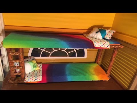BED SET / Blanket Mattress Pillow / HOW TO TUTORIAL / Complete 2-sided Design / For Doll House