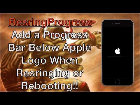 iOS Tweak: RespringProgress (Add Progress Bar Under Apple Logo)