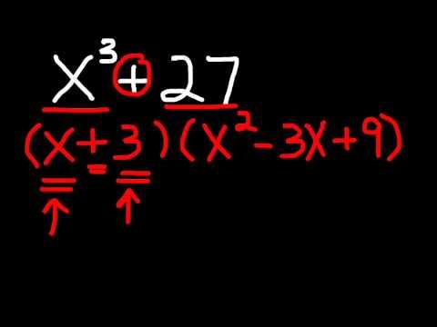 Factoring Binomials - Cubes #1