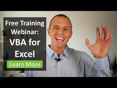 Free Webinar on VBA Macros for Excel