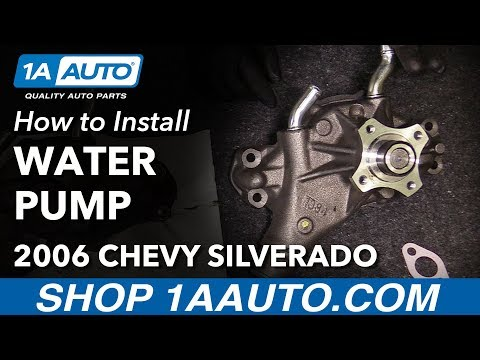 How to Install Replace Engine Water Pump 1999-2013 Chevy Silverado 1500 V6 4.3L