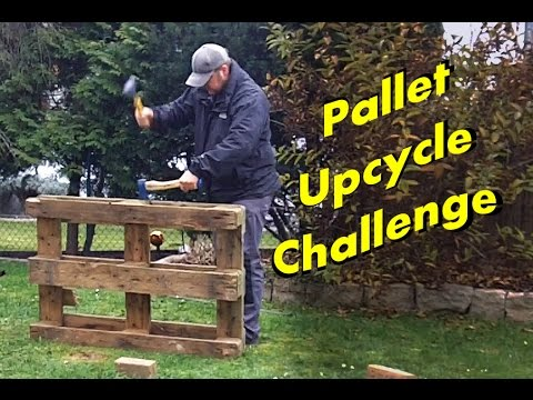 making a Pallet Guitar Stand - Pallet Upcycle Challenge 2014 - Woodworking