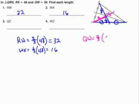 Median of a Triangle   Centroid Theorem