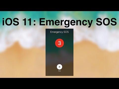 iOS 11: Emergency SOS