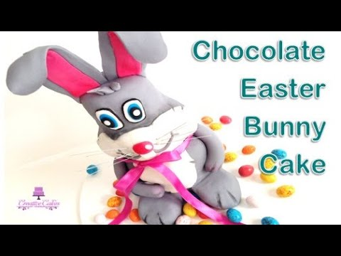 How to make a Chocolate Easter Bunny Cake from Creative Cakes by Sharon