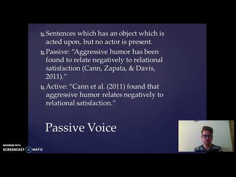 Passive Voice-Notes on Writing