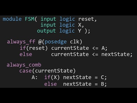 How to Write an FSM in SystemVerilog (SystemVerilog Tutorial #1)