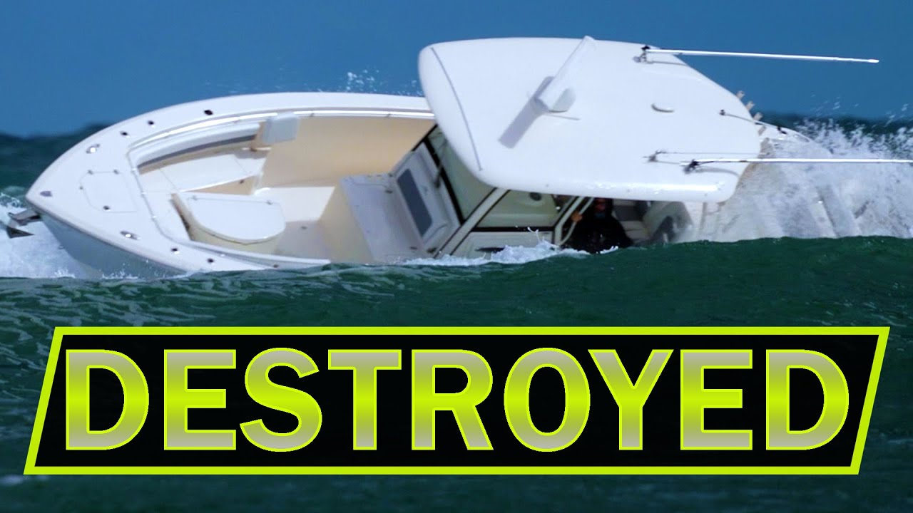 COBIA GETS DESTROYED - DON'T DO THIS - BOAT FAIL    ROUGH INLETS   Boats at Jupiter Inlet