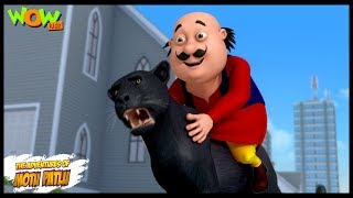 Motu Patlu New Episodes | Cartoons | Kids | Panther In Modern City | Wow Kidz