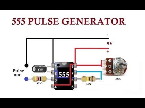 555 Pulse Generator. Simple Circuit.