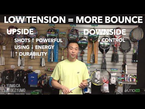 What should I string my badminton racket tension at? - YumoTube