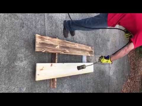 How To Do Burnt Wood Finish