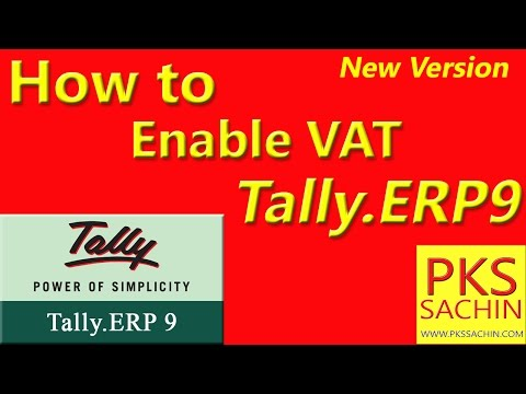 How to Enable VAT in Tally ERP 9 टैली मे Company मै VAT कैसे Activate करते है