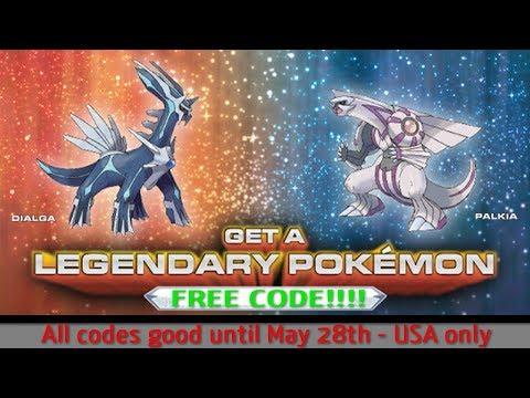 FREE Legendary Pokémon Sun and Moon Codes - DIALGA PALKIA - Good Till May 28 2018