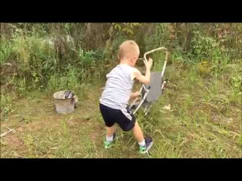 How a kid finds treasure Funny video The beginning of a future picker treasure hunting