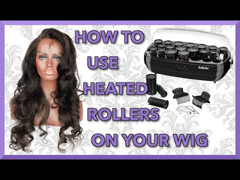 Tutorial How To Use BaByliss Thermo-Ceramic Rollers   Heated Hot Rollers  Raw Indian wig Virgin Hair