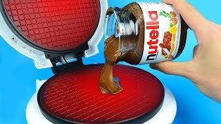What if to Drop NUTELLA into Waffle Maker