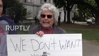 USA: Protesters rally against stay-at-home rules in California