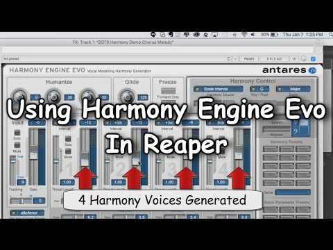 Using Harmony Engine Evo In Reaper