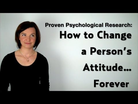 Psychological Influence: How to Change a Person's Attitude