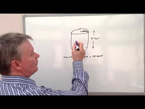 How to estimate the volume of a cylinder