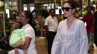 Sleepy Taimur Ali Khan accompanies mom Kareena Kapoor