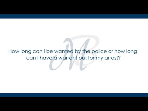 How Long Can I Have a Warrant Out For My Arrest? | Muhlenkamp & Bernsen