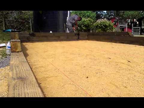 Bocce ball court construction