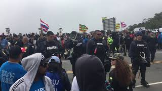 Download Police address crowd during TMT protest Video