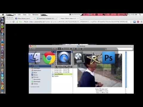 Putting Facebook Videos Onto iMovie : iMovie & Video Editing