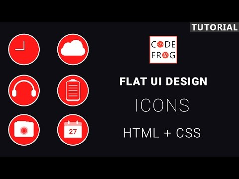 UI Design Tutorial - Flat Icons | HTML CSS Speed Coding