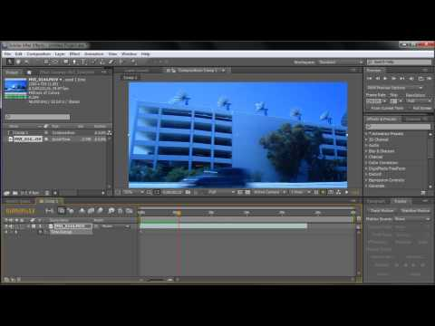 After Effects Tutorial: Changing Time (Reverse, Slow Motion, Speed Up)  -HD-