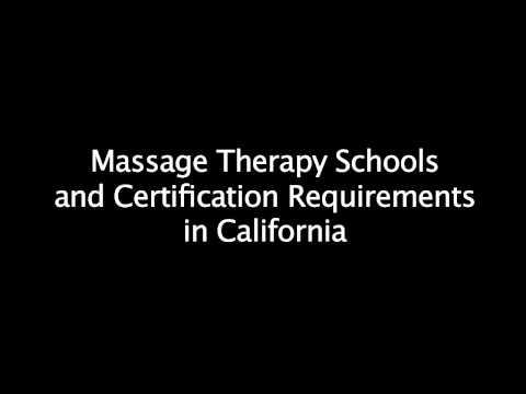 Massage School Requirements in California