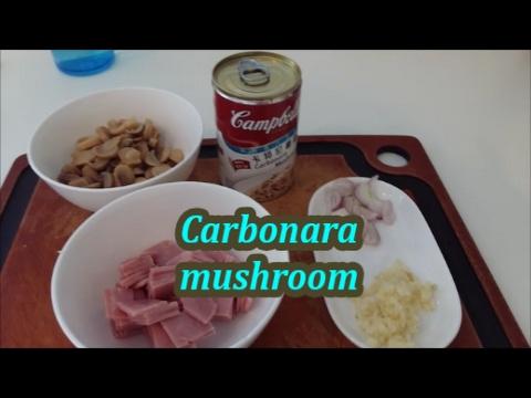 CARBONARA MUSHROOM SIMPLE RECIPE MY STYLE!!!!!!