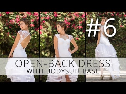 Open-back dress with a bodysuit base. How to make a wedding dress. p6