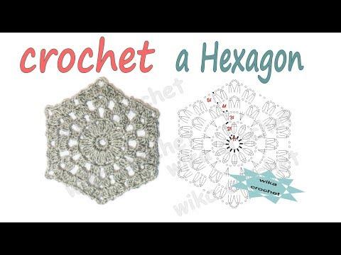 Lace crochet hexagon Crochet pattern Easy crochet How to crochet Wika crochet