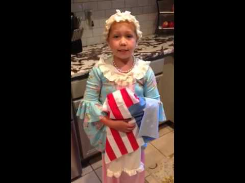 Fallon as Betsy Ross 2nd grade