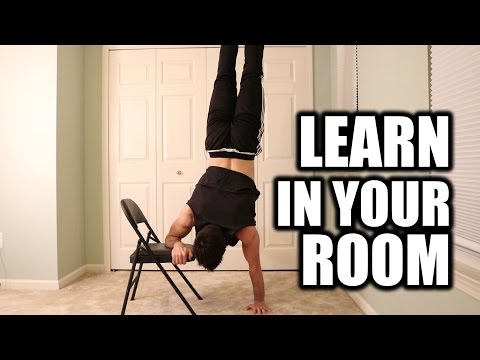Learn How to Handstand In Your Room    Chair Progression Exercises