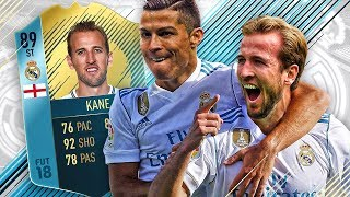 OMG THE REAL MADRID HARRY KANE! PLAYER OF THE MONTH KANE MADRID SQUAD! FIFA 18 ULTIMATE TEAM