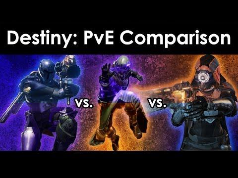 Destiny Beta: Warlock vs. Titan vs. Hunter All Subclasses - PvE Class Comparison