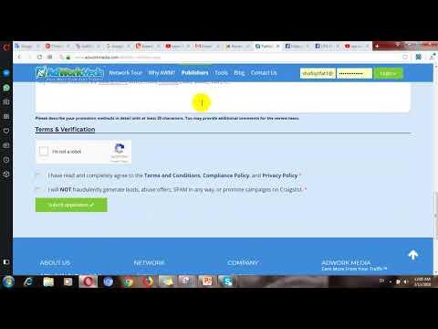 Earn $1000 From CPA Marketing - Adworkmedia Registration