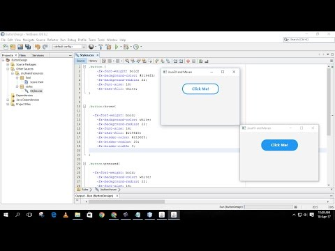 Designing A Button  And Adding  Hover Effects With Css In A Javafx Project