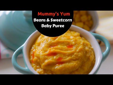 Beans & Sweetcorn Baby Puree