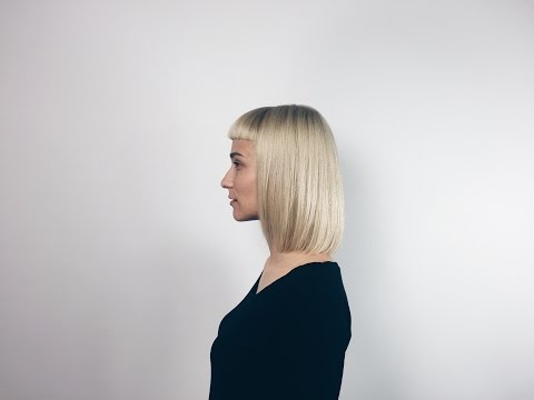 how to cut long bob (lob haircut) with short fringe
