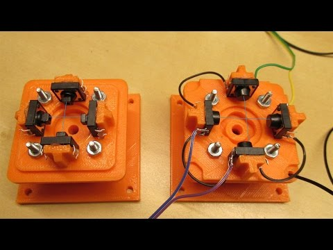 3D Printed Micro Arcade Joystick with Tactile Switches