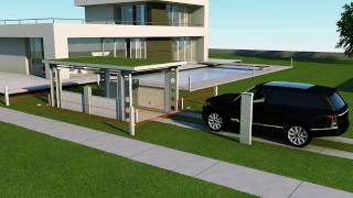 IdealPark car lift. Invisible solution for private house.