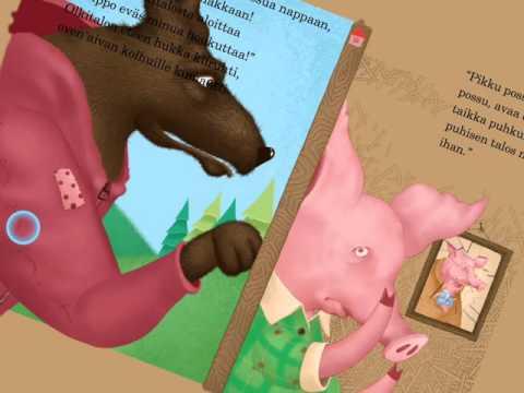 iPad lastenkirjat - Kolme Pientä Porsasta